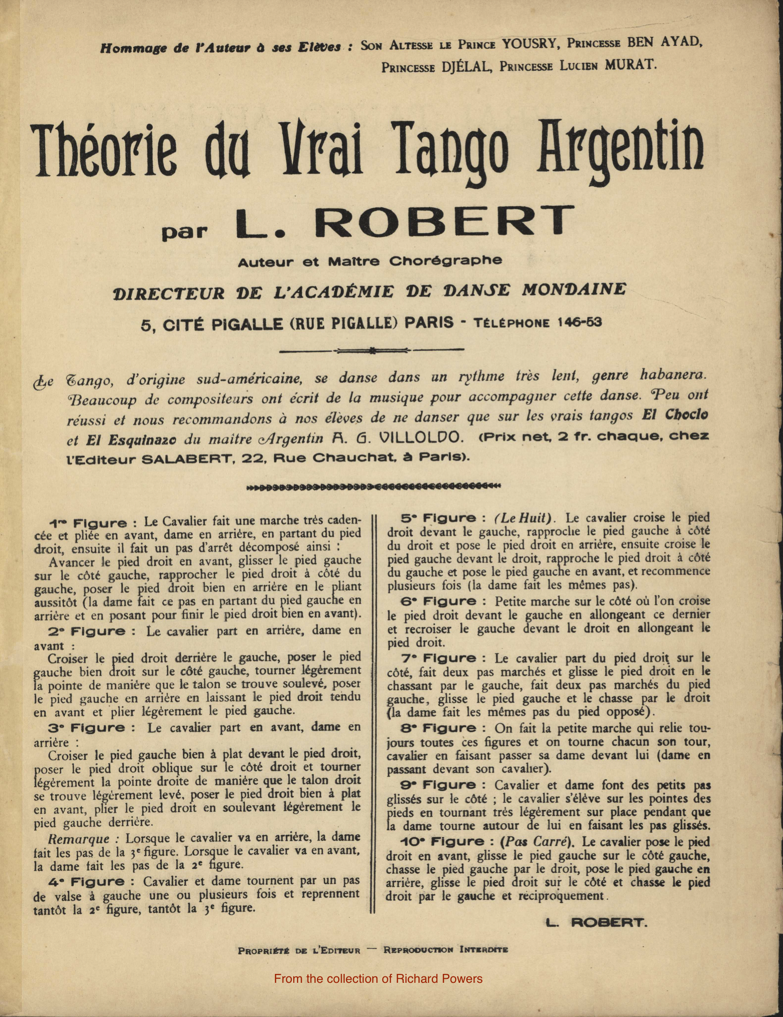 Library Of Dance Early Tango Argentine Steps Diagram Look At This Le Vrai Argentin L Robert Thorie Du 1911 P 1